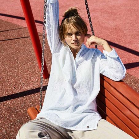 Nümph Skjorte, Nuaverie, Bright White, numph tøj, numph bluse - Model
