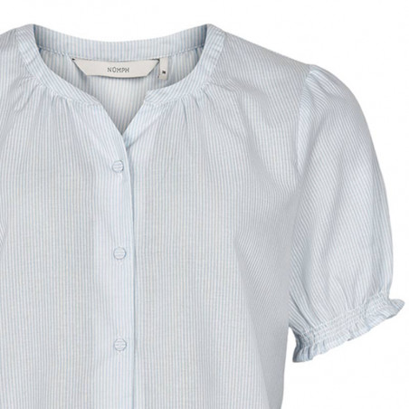 Nümph Bluse, Nuardith, Airy Blue, Numph bluse - Detalje
