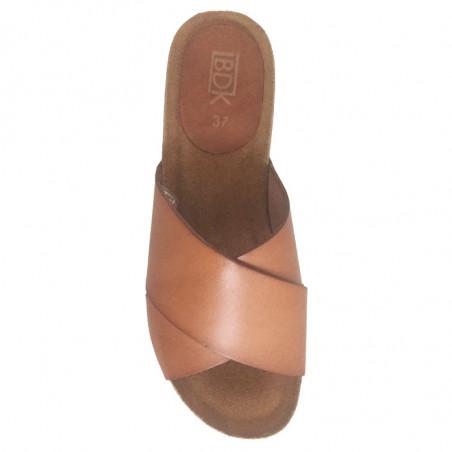 LBDK Mavi Sandaler med kilehæl i cognac