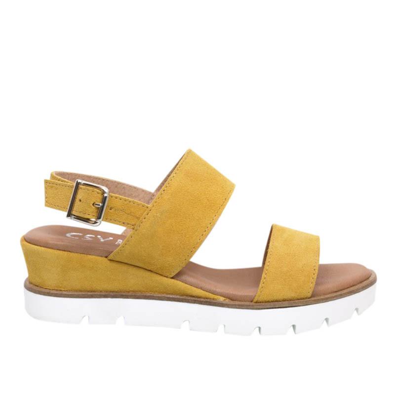 lbdk sko Lbdk sandaler, serraje m/hæl, ocre på superlove