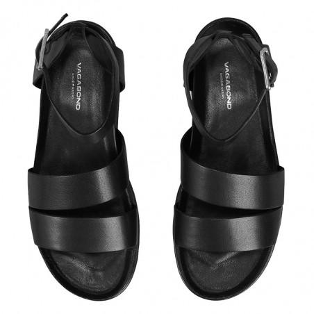Vagabond Sandaler, Erin M/Ankelrem, Black, Vagabond sko, Vagabond shoes - Oppe