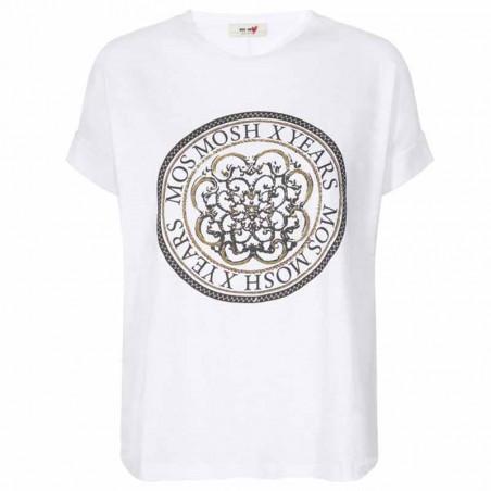 Mos Mosh T-shirt, Yara Anniversary, White With  Gold