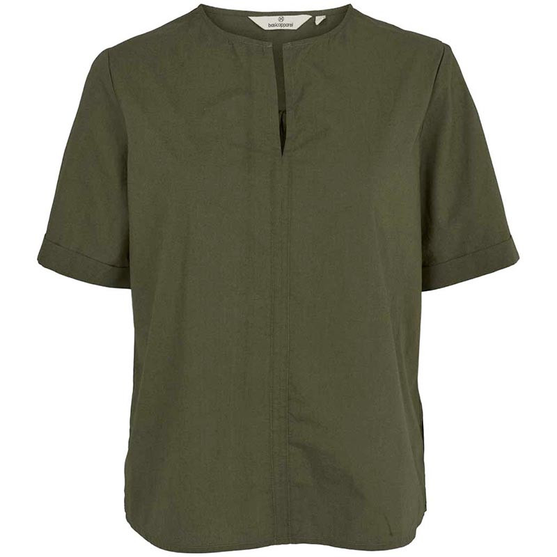 Image of   Basic Apparel Bluse, Vilde, Army
