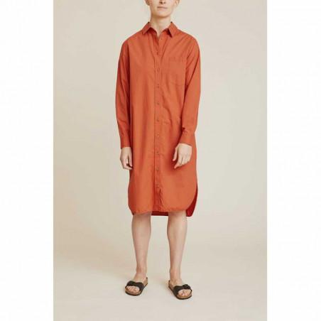 Basic Apparel Kjole, Vilde, Ginger Spice Basic Apparel skjorte front