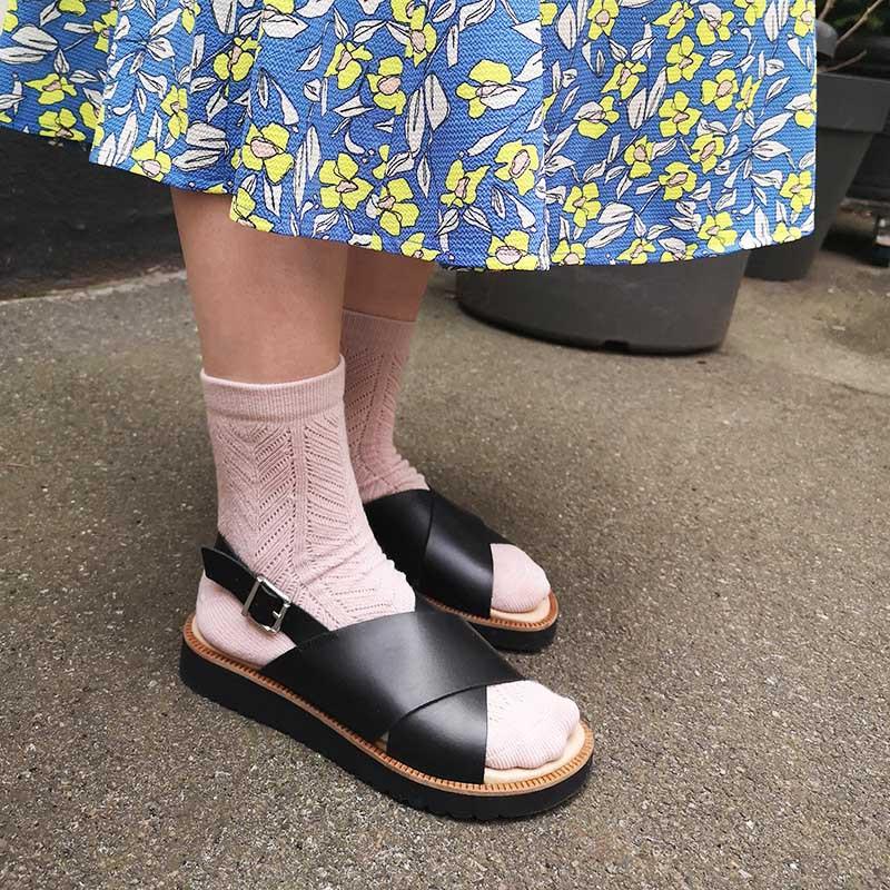 lbdk sko – Lbdk sandaler, eva m. brede remme, black på superlove