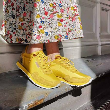 Woden Sneakers, Nora II, Super Lemon på model