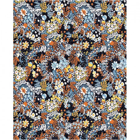 Minus Bluse, Cesena, Bloom Print Bounty Blue minus top detalje