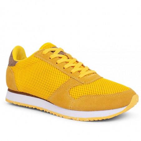 Woden Sneakers, Ydun Mesh NSC, Super Lemon woden sko dame woden sneakers dame side