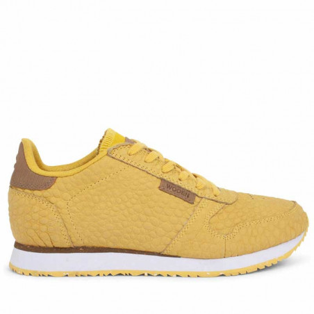 Woden Sneakers dame Ydun Croco, Super Lemon woden sko dame