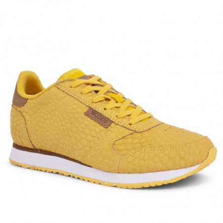 Woden Sneakers dame Ydun Croco, Super Lemon woden sko dame side