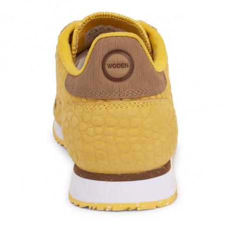 Woden Sneakers dame Ydun Croco, Super Lemon woden sko dame bagside