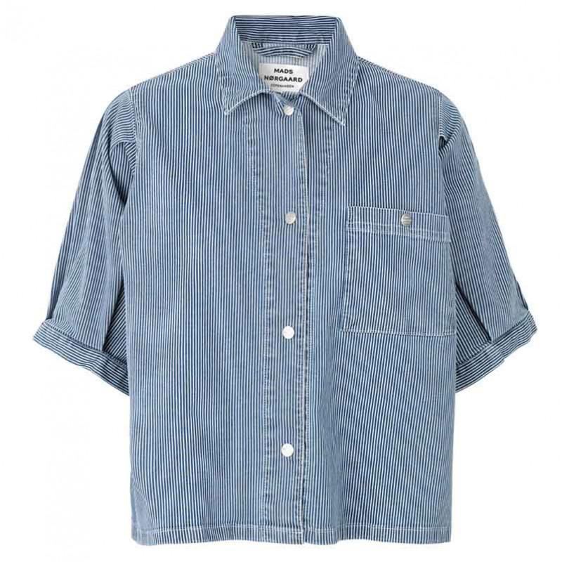 mads nørgaard – Mads nørgaard skjorte, sassie, blue/white fra superlove