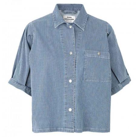 Mads Nørgaard Skjorte, Sassie Stripe, Blue/White
