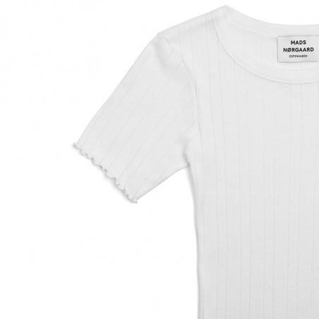 Mads Nørgaard T-shirt, Pointella Trixa, White Mads Nørgaard T shirt detalje