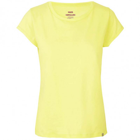 Mads Nørgaard T-Shirt dame, Teasy, Soft Yellow Mads Nørgaard T Shirt