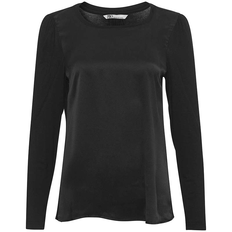 PBO Bluse, Puff, Black pbo tøj pbo group