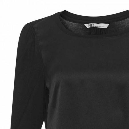 PBO Bluse, Puff, Black pbo tøj pbo group detalje