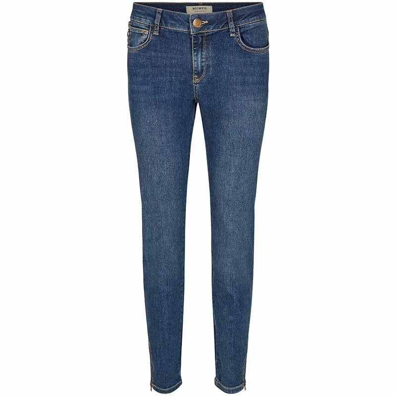 mos mosh jeans, victoria favourite, blue denim fra mos mosh