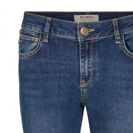Mos Mosh Jeans, Victoria Favourite, Blue Denim bukser Mos Mosh bukser detalje