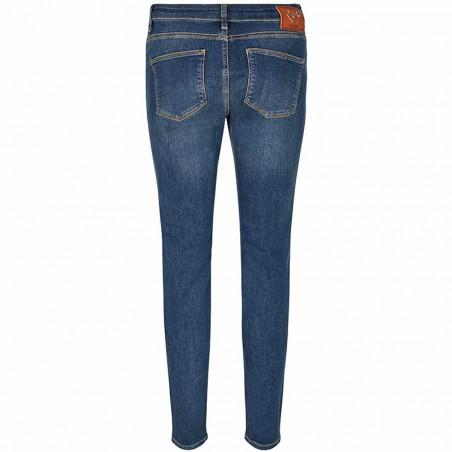 Mos Mosh Jeans, Victoria Favourite, Blue Denim bukser Mos Mosh bukser bagside