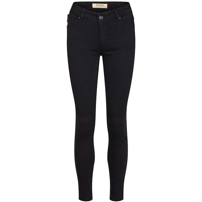Mos Mosh Jeans, Victoria 7/8 Silk Touch, Black bukser mos mosh bukser