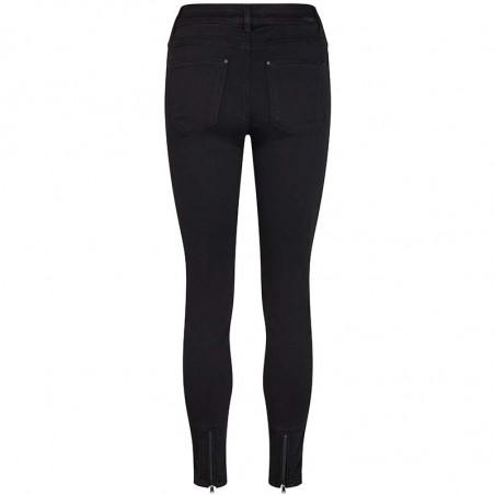 Mos Mosh Jeans, Victoria 7/8 Silk Touch, Black bukser mos mosh bukser bagside