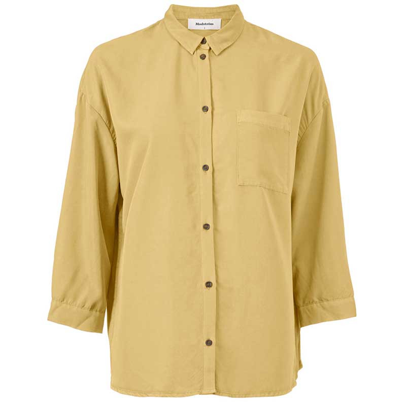 Modström Skjorte, Colin, Misty Yellow, modstrøm, modstrøm tøj