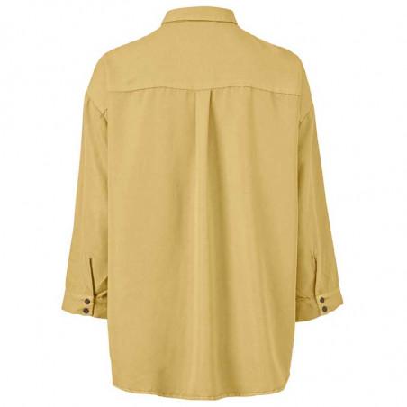 Modström Skjorte, Colin, Misty Yellow, modstrøm, modstrøm tøj - Bagside