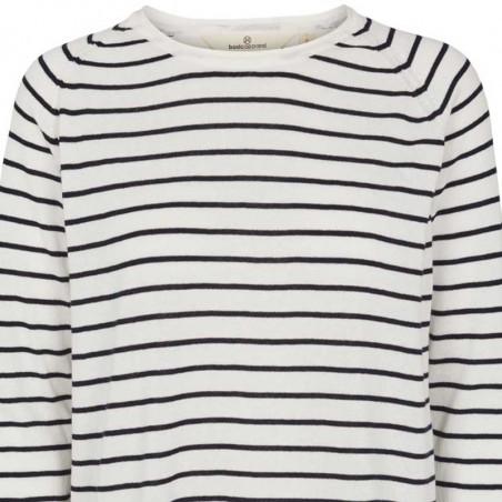Basic Apparel Strik, Soya Stripe, Navy, basic apparel - detalje