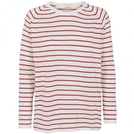 Basic Apparel Strik, Soya Stripe, Earth Red, basic apparel