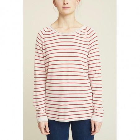 Basic Apparel Strik, Soya Stripe, Earth Red, basic apparel - model
