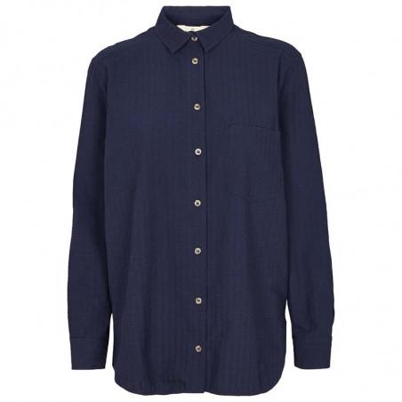 Basic Apparel Skjorte, Joan, Navy, basic apparel