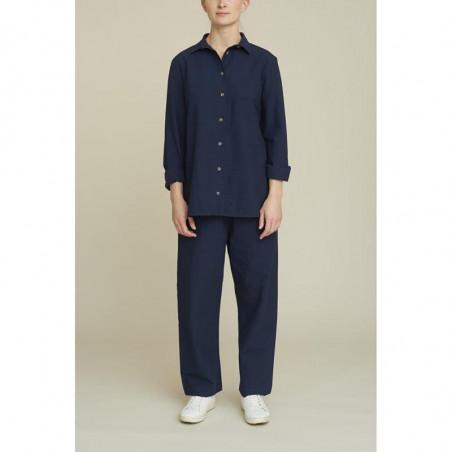 Basic Apparel Skjorte, Joan, Navy, basic apparel - Model