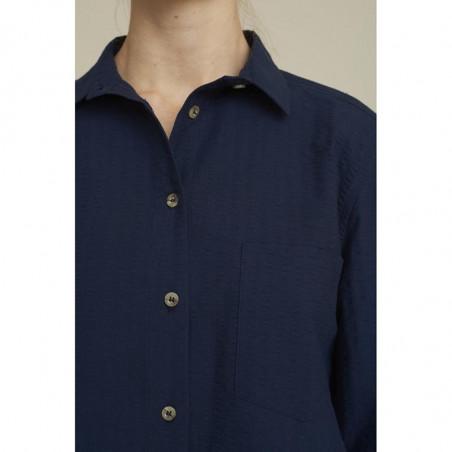 Basic Apparel Skjorte, Joan, Navy, basic apparel  - Detalje