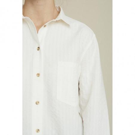 Basic Apparel Skjorte, Joan, Off White - basic apparel - front