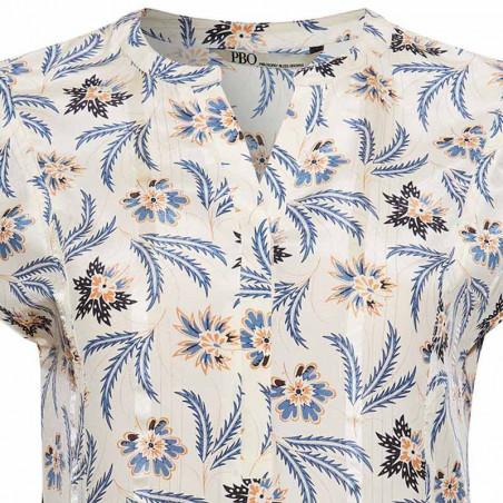 PBO Bluse, Dust, Angora Print pbo group pbo dametøj detalje