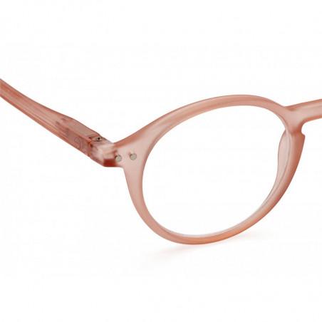 Izipizi Briller, D Reading, Læsebriller i farven Pulp detalje