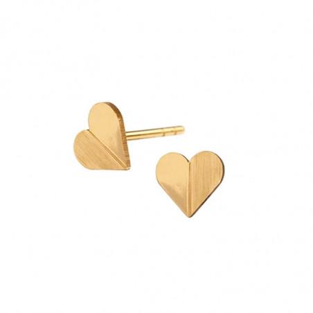 Scherning Øreringe, Heart, Gold