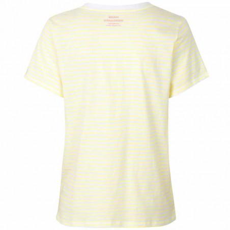 Mads Nørgaard T-Shirt dame, Trimmy V, White/Soft Yellow Mads Nørgaard T Shirt bagside