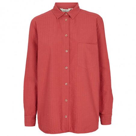 Basic Apparel Skjorte, Joan, Earth Red