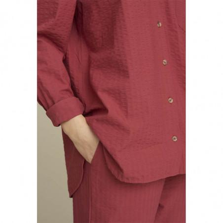 Basic Apparel Skjorte, Joan, Earth Red, detalje