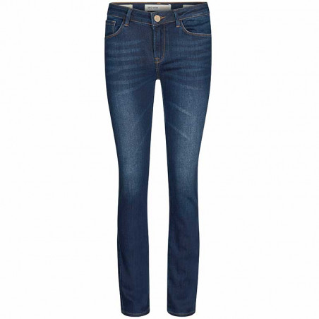 Mos Mosh Jeans, Athena Boot Cut, Blue mos mosh bukser