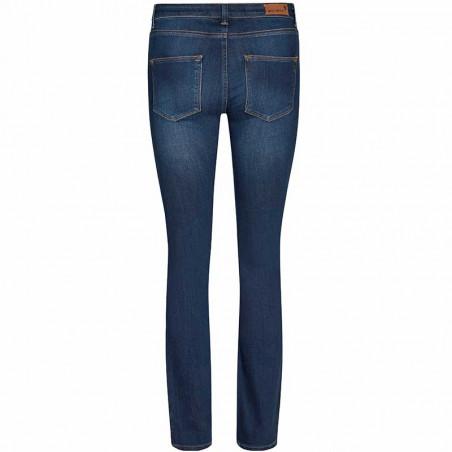 Mos Mosh Jeans, Athena Boot Cut, Blue mos mosh bukser bagside