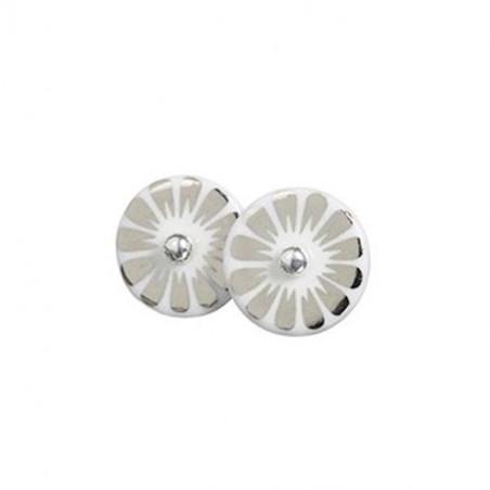 Scherning Ørestikker, Bloom, Sølv/Sølv scherning øreringe scherning smykker