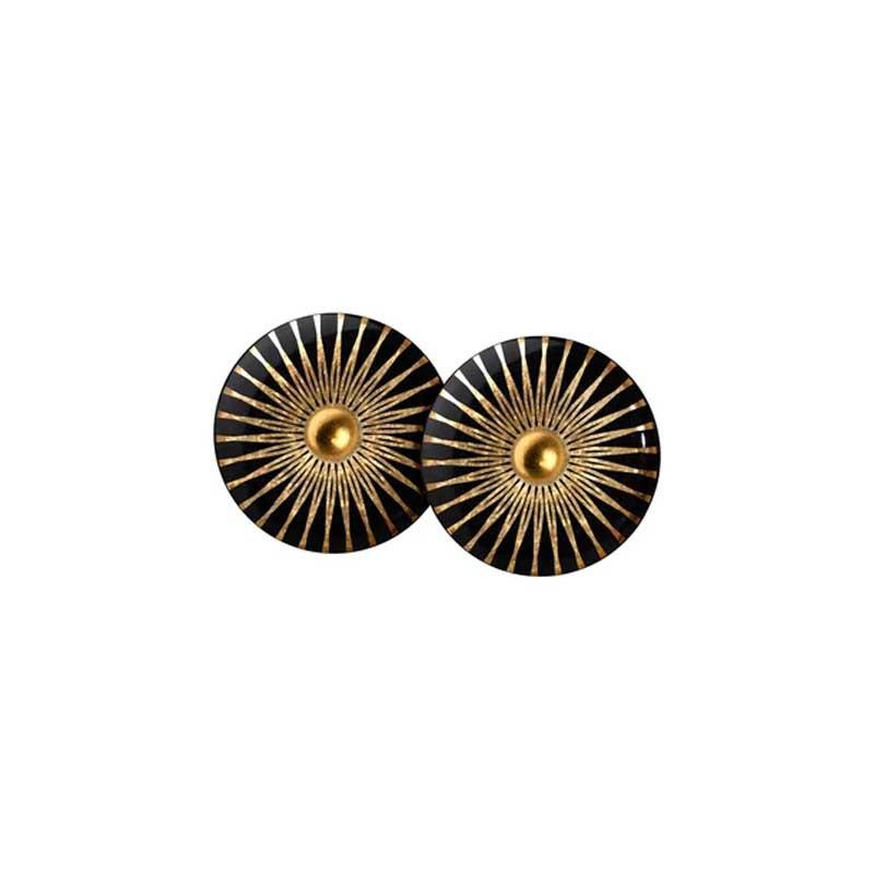 Scherning Ørestikker, Splash, Black/Gold scherning øreringe scherning smykker scherning øreringe forhandlere