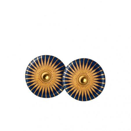 Scherning øreringe, Splash ørestikker, Midnight/Gold, Scherning smykker