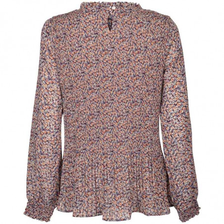 Minus Bluse, Vallie, Fiery Flower minus tøj online bagside