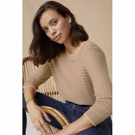 Minus Bluse, Ria, Nomad Sand minus tøj online model