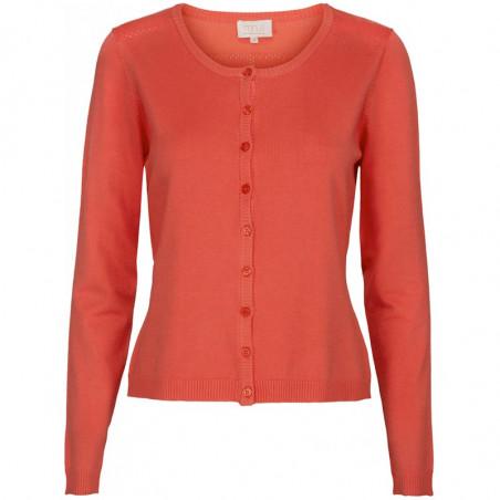 Minus Cardigan New Laura, Fiery Red minus tøj online