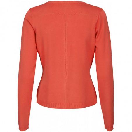 Minus Cardigan New Laura, Fiery Red minus tøj online bagside